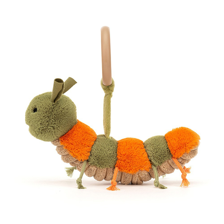 Jellycat® Little Christopher Caterpillar Rattle 8x16