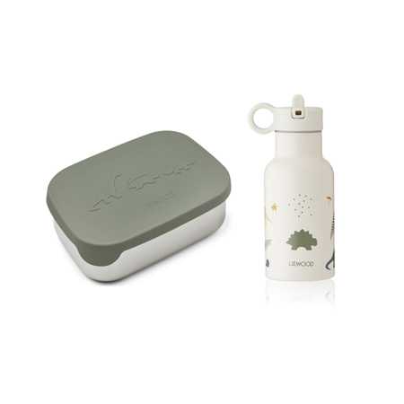 Picture of Liewood® Joni Lunch Box set - Dino Faune Green Mix