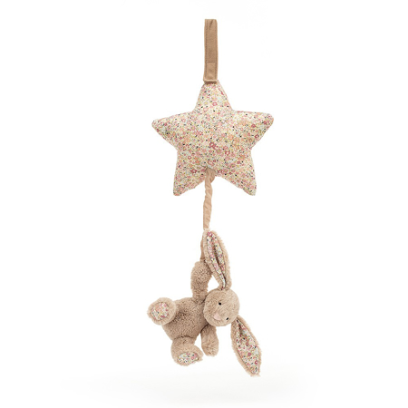 Picture of Jellycat® Blossom Bea Beige Bunny Musical Pull 28cm