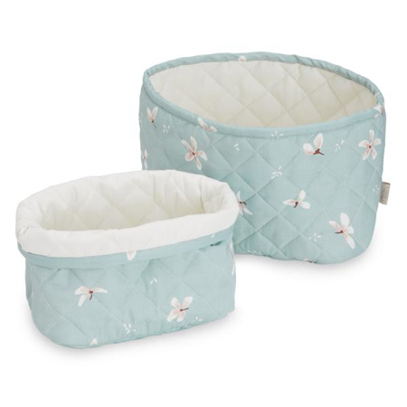 Picture of CamCam® Quilted Storage Baskets Windflower Blue