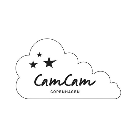 Picture of CamCam® Jersey Teething Bib - GOTS Caramel Leaves