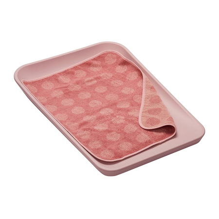 Leander® Topper for changing mat Dusty Rose 65x45
