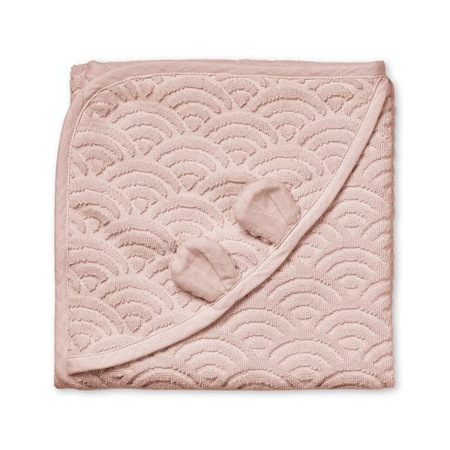 Picture of CamCam® Towel Junior Hooded w/ ears GOTS Dusty Rose 80x80
