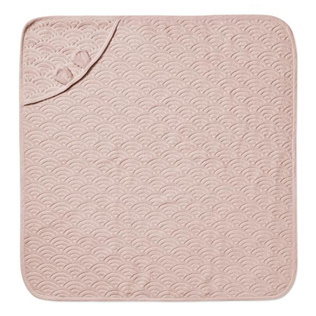 CamCam® Towel Junior Hooded w/ ears GOTS Dusty Rose 80x80