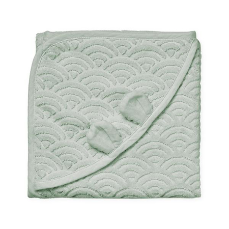 Picture of CamCam® Towel Junior Hooded w/ ears GOTS Dusty Green 80x80