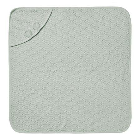 CamCam® Towel Junior Hooded w/ ears GOTS Dusty Green 80x80