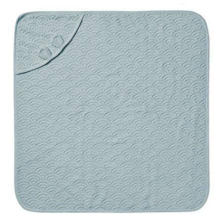 CamCam® Towel Junior Hooded w/ ears GOTS Petroleum 80x80