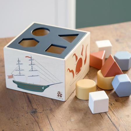 Sebra® Wooden shape sorter, Seeven Seas