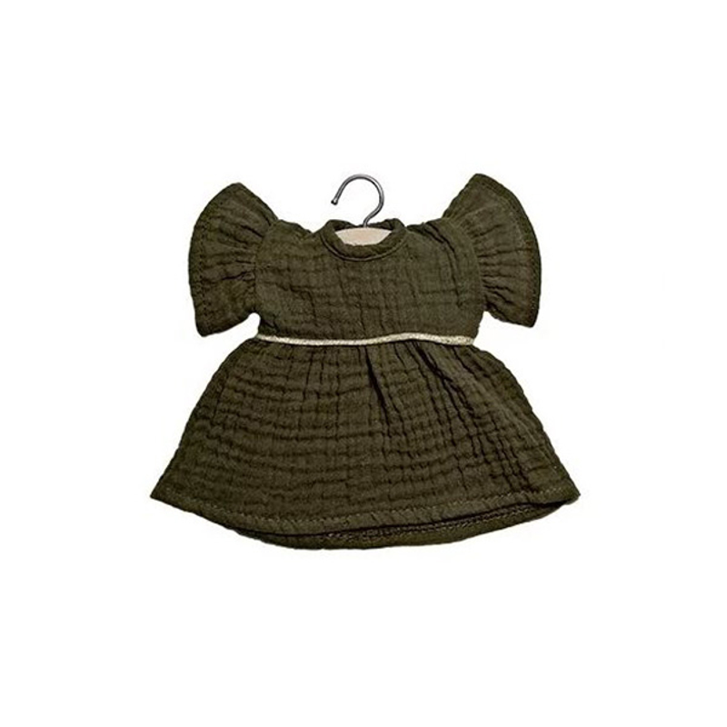Picture of Minikane® Esemble dress in organic cotton Daisy Kaki 32cm