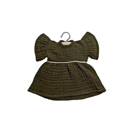 Minikane® Esemble dress in organic cotton Daisy Kaki 32cm