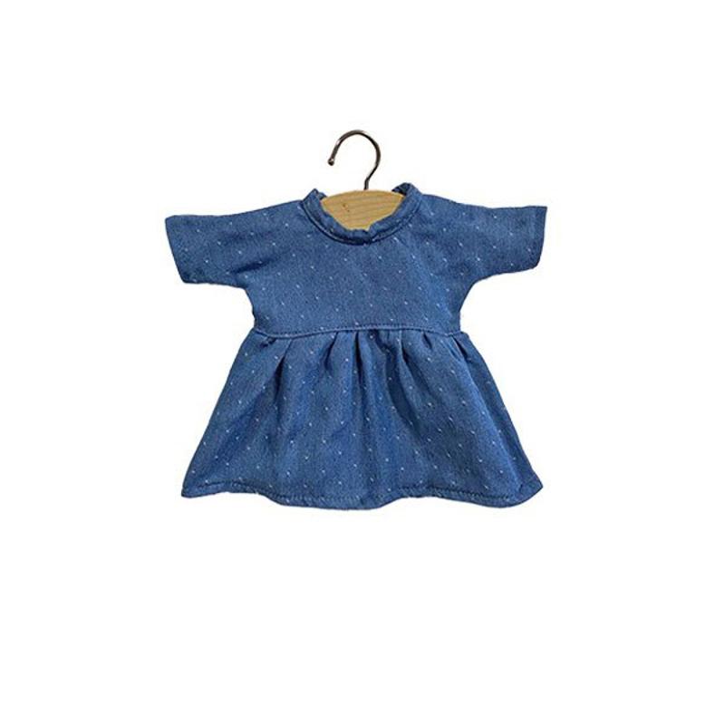 Picture of Minikane® Esemble dress in organic cotton Faustine Denim 32cm