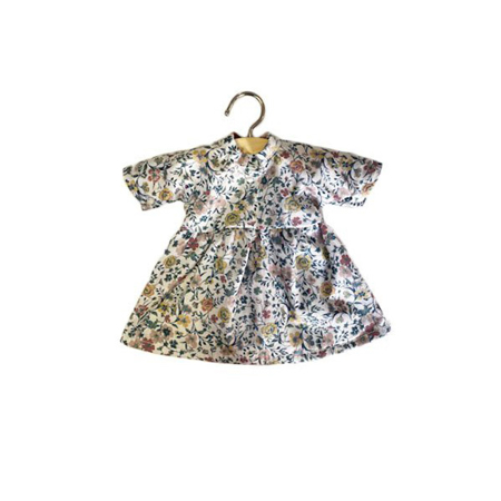 Minikane® Esemble dress in organic cotton Faustine Flowerly 32cm