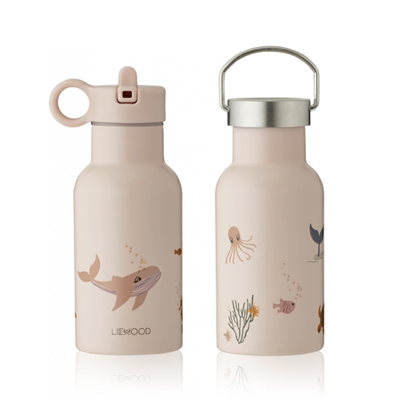 Picture of Liewood® Water Bottle Anker Sea Creature Rose Mix 350ml