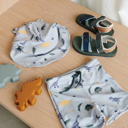 Picture of Liewood® Otto baby boy Swim pants Seersucker Dino Dove Blue Mix