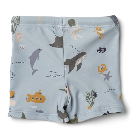 Picture of Liewood® Otto baby boy Swim pants Seersucker Sea Creature Mix
