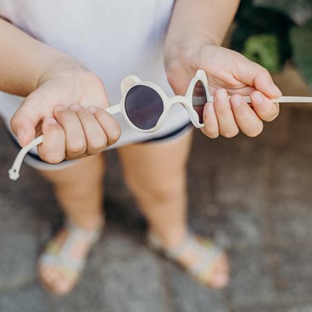 KiETLA® Sun shades for kids silver Almond Green 2-4Y