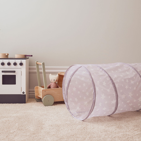 Kids Concept® Play tunnel lilac STAR