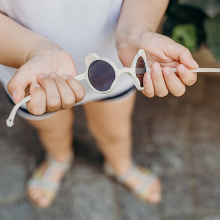 KiETLA® Sun shades for kids Grapefruit 0-1Y