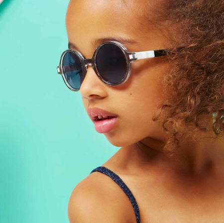 KiETLA® Sun shades for kids Blue Buzz 6-9Y