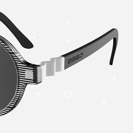 Picture of KiETLA® Sun shades for kids Black Buzz 6-9Y