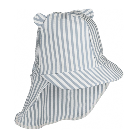 Picture of Liewood® Senia sun hat seersucker Stripe Sea Blue/White