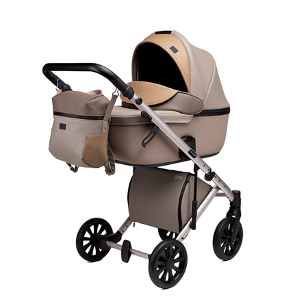 Picture of Anex® Stroller with Carrycot and Backpack 2v1 E/Type (0-22kg) Truffle