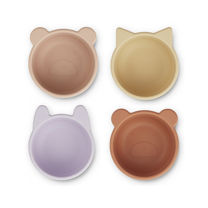 Picture of Liewood® Malene Silicone Bowl 4 Pack Light Lavender Multi Mix