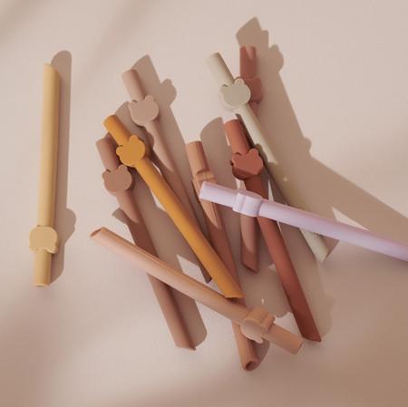 Liewood® Badu Silicone Straw Set 10 Pack - Blue Wave Multi Mix