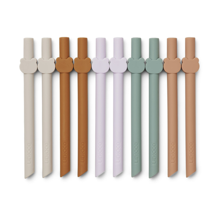 Picture of Liewood® Badu Silicone Straw Set 10 Pack - Multi Mix