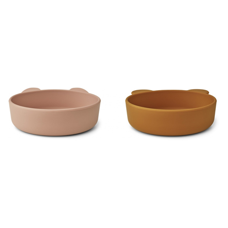 Picture of Liewood® Vanessa Plate 2 Pack - Dark Rose/Mustard Mix