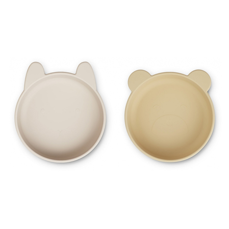 Picture of Liewood® Vanessa Plate 2 Pack - Wheat Yellow Sandy Mix