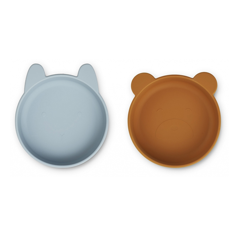 Picture of Liewood® Vanessa Plate 2 Pack - Sea Blue Mustard Mix