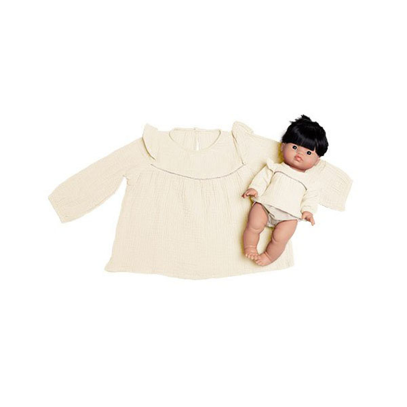 Picture of Minikane® Duo Collection MARINA blouse in cotton double gauze Ecru