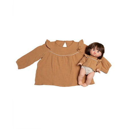 Picture of Minikane® Duo Collection MARINA blouse in cotton double gauze Camel