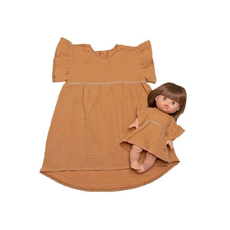 Picture of Minikane® Duo Collection DAISY Cotton Dress Camel