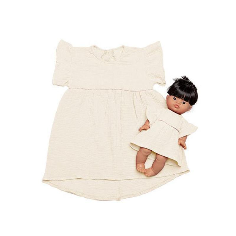 Picture of Minikane® Duo Collection DAISY Cotton Dress Ecru