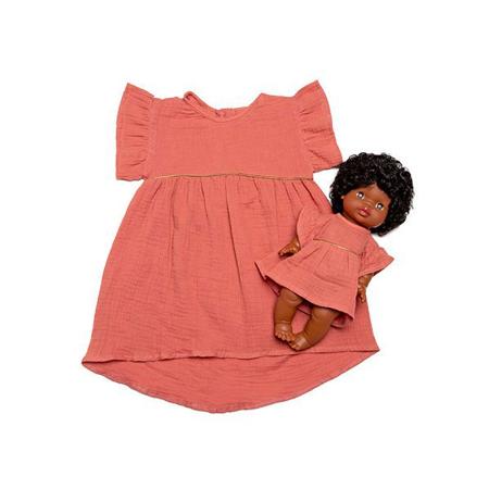 Picture of Minikane® Duo Collection DAISY Cotton Dress Marsala