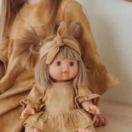 Minikane® Duo Collection DAISY Cotton Dress Marsala