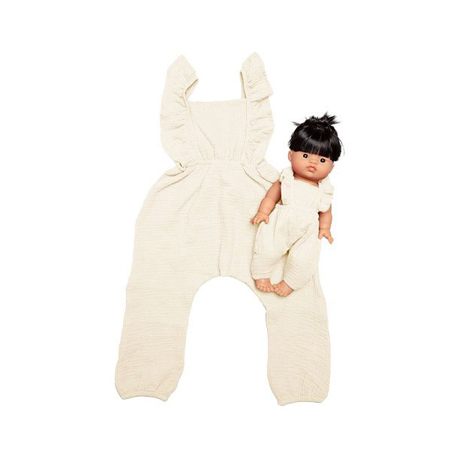 Picture of Minikane® Duo Collection MAYA Cotton jumpsuit Ecru