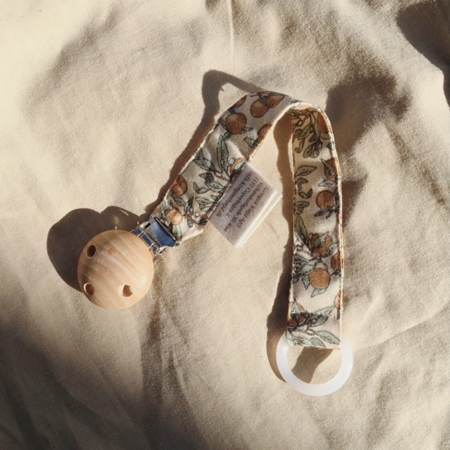 Picture of Konges Sløjd® Pacifier strap muslin Bloom Red/Blue