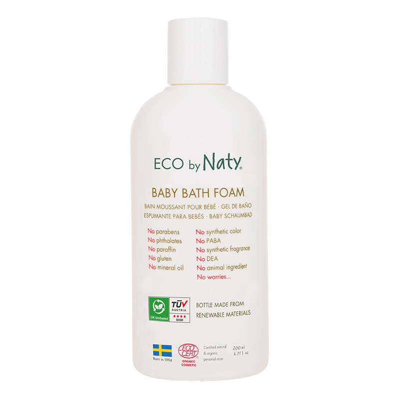 Picture of Eco by Naty® Baby Bath Foam 200 ml