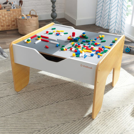 KidKratft® 2-in-1 activity table with board Gray and Natural