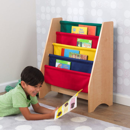 KidKratft® Sling Bookshelf Primary/Natural