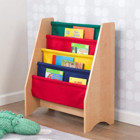 Picture of KidKratft® Sling Bookshelf Primary/Natural