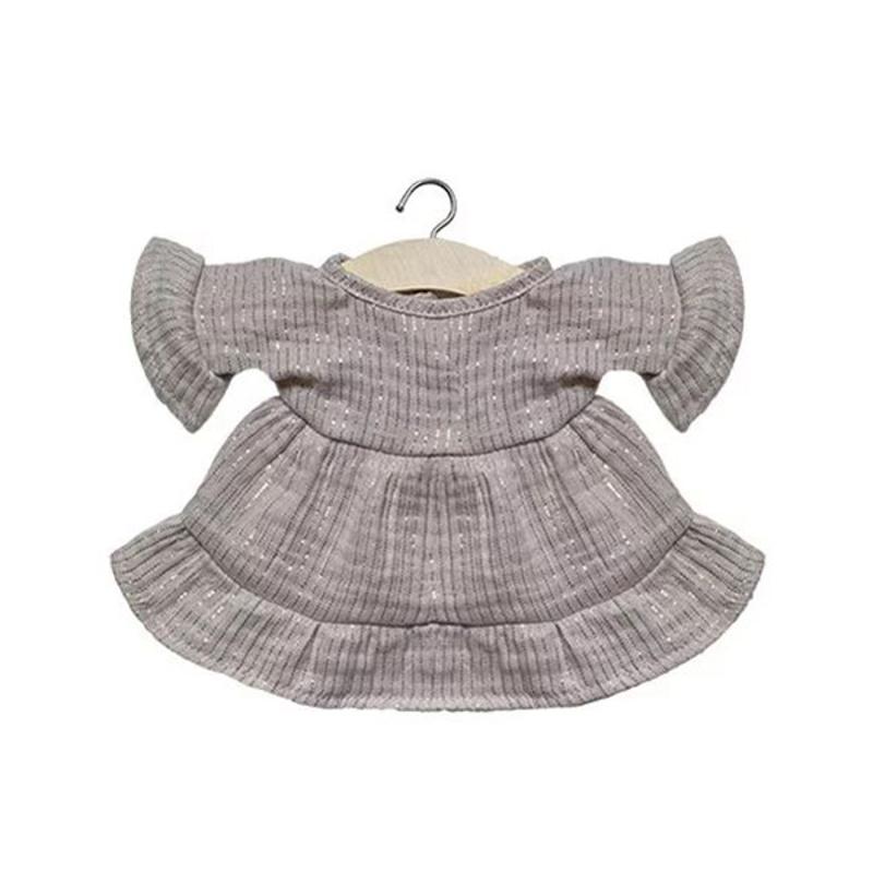 Picture of Minikane® Esemble dress in organic cotton Lucia Lurex Beige 34cm