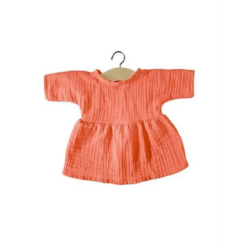 Picture of Minikane® Esemble dress in organic cotton Faustine Lurex Beige 34cm