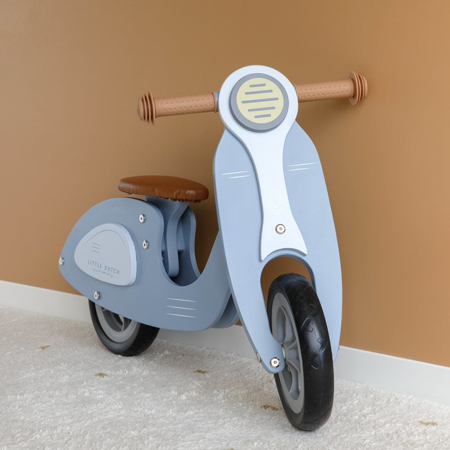 Picture of Little Dutch® Scooter hout Blue