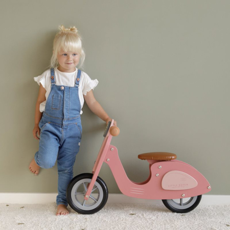 Picture of Little Dutch® Scooter hout Pink
