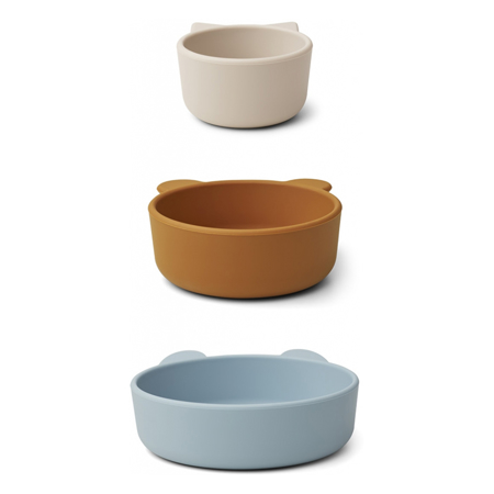 Picture of Liewood® Eddie bowls - Blue Multi Mix 3 pack