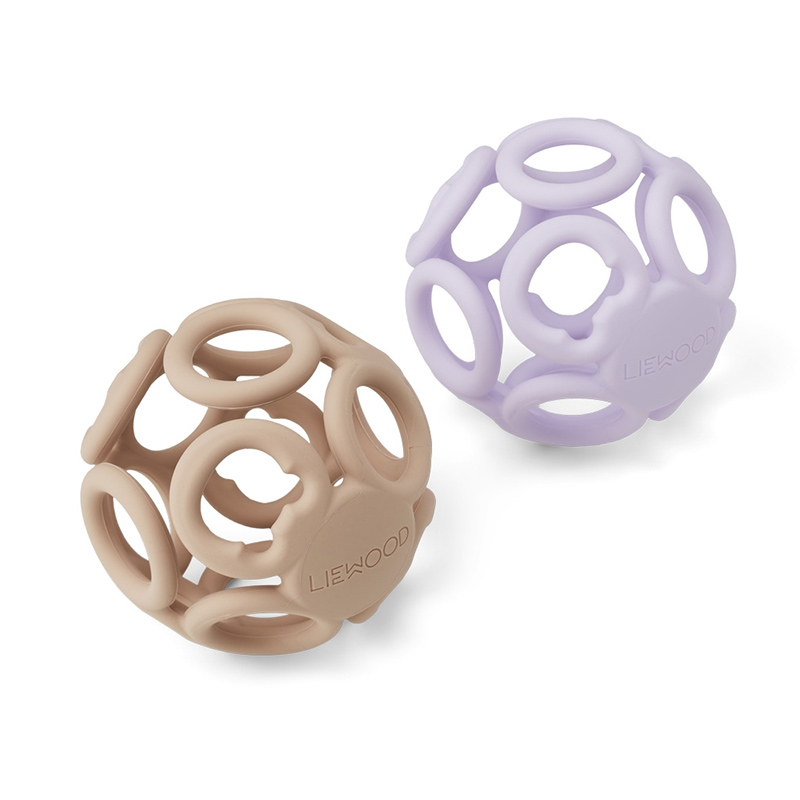 Picture of Liewood® Jasmin teether ball 2-pack Light Lavender Rose Mix